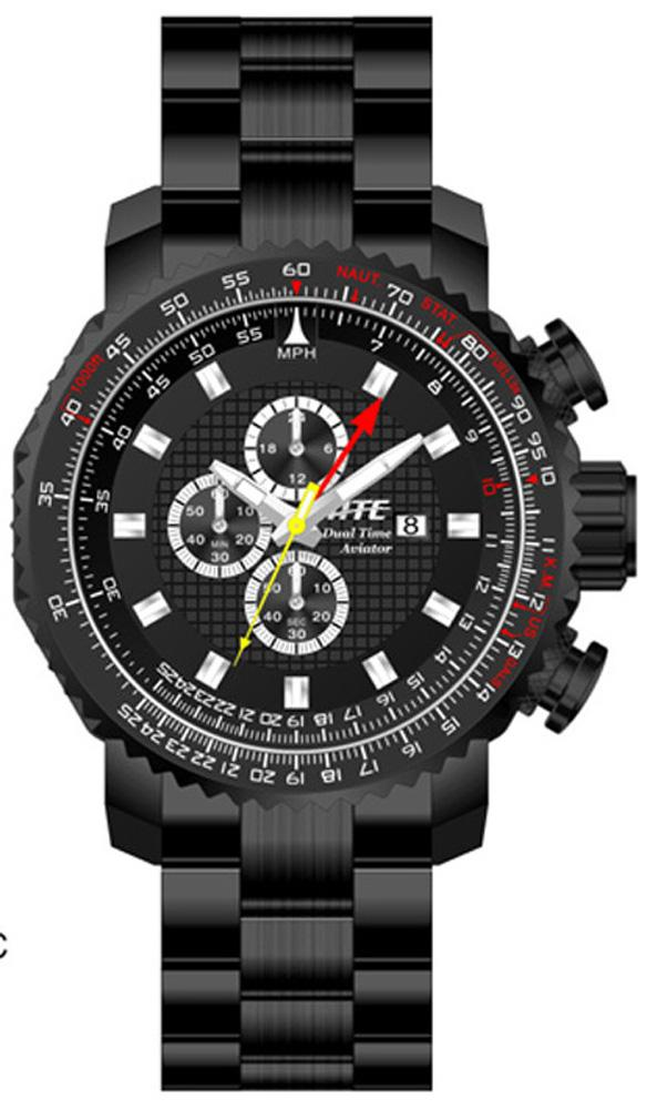 ATC Pilot-Aviator Chrono/Dual-Time Watch by HME